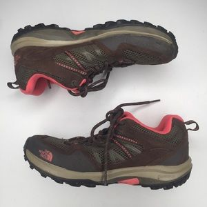 North Face Vibram Leather Mesh Hiking Tennis Shoes